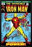 Marvel Comics Retro: The Invincible Iron Man Comic Book Cover No.47, Breaking Through Chains Poster
