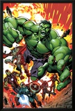 Avengers Assemble No.2 Cover: Hulk, Thor, Iron Man, Captain America, Hawkeye, and Black Widow Photo by Mark Bagley