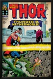 Marvel Comics Retro: The Mighty Thor Comic Book Cover No.130, Thunder in the Netherworld (aged) Photo