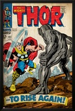 Marvel Comics Retro: The Mighty Thor Comic Book Cover No.151 --To Rise Again! (aged) Prints