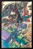 Mega Morphs No.2 Cover: Spider-Man and Hulk Posters by Lou Kang