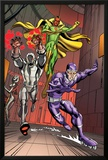 Exiles No.5 Group: Vision, Ultron and Machine Man Prints by Casey Jones