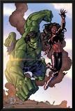 Incredible Hulks No.635: Hulk and Red She-Hulk Posters by Tom Grummett