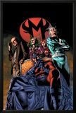 Civil War: House Of M No.2 Cover: Magneto and Quicksilver Prints by Mike Perkins
