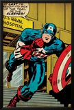 Marvel Comics Retro: Captain America Comic Panel, U.S. naval Hospital (aged) Print