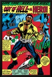 Marvel Comics Retro: Luke Cage, Hero for Hire Comic Panel, Screaming Prints