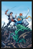 StarJammers No.3 Cover: Chod, Raza and Starjammers Print by Jorge Lucas