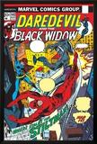 Daredevil No.102 Cover: Stiltman, Black Widow and Daredevil Posters by Syd Shores