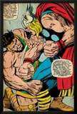 Marvel Comics Retro: Mighty Thor Comic Panel, Hercules (aged) Print