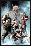 Captain America: Hail Hydra No.2 Cover: Thor, Iron Man, Captain America, and Wasp Prints by Adi Granov