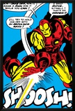 Marvel Comics Retro: The Invincible Iron Man Comic Panel, Fighting and Shooting, Shoosh! Photo