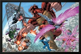New Thunderbolts No.2 Group: Atlas, Mach IV, Songbird, Wrecking Crew and New Thunderbolts Poster by Tom Grummett