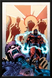 Civil War: House Of M No.1 Cover: Magneto and Sentinel Poster by Mike Perkins