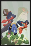 Marvel Adventures Super Heroes No.16 Cover: Beast, Spider Woman and Giant Girl Prints by Sean Galloway
