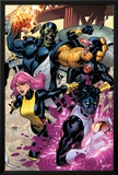 Secret Invasion: X-Men No.2 Cover: Pixie, Nightcrawler and Cyclops Prints by Terry Dodson