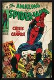 Marvel Comics Retro: The Amazing Spider-Man Comic Book Cover No.68, Crisis on Campus (aged) Prints