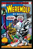 Werewolf By Night No.32 Cover: Moon Knight and Werewolf By Night Prints by Don Perlin