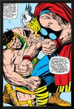 Marvel Comics Retro: Mighty Thor Comic Panel, Hercules Print