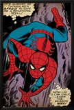 Marvel Comics Retro: The Amazing Spider-Man Comic Panel, Crawling (aged) Print