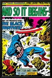 Marvel Comics Retro: Captain America Comic Panel, And So It Begins..! Prints