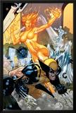 Secret Invasion: X-Men No.4 Cover: Wolverine and Phoenix Prints by Terry Dodson