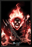 Ghost Rider No.1 Cover: Ghost Rider Flaming Print by Adam Kubert