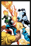 Captain America & The Korvac Saga No.2 Cover: Captain America Fighting Guardians of the Galaxy Prints by Craig Rousseau
