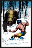 Classic X-Men No.25 Cover: Wolverine Swinging Prints by John Bolton