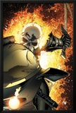 Ghost Rider No.8 Cover: Ghost Rider Flaming Print by Matt Clarke