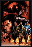Ultimate Nightmare No.1 Cover: Nick Fury, Captain America, Wolverine and Colossus Prints by Trevor Hairsine