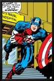 Marvel Comics Retro: Captain America Comic Panel, U.S. naval Hospital Posters