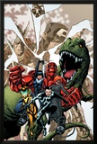 Avengers Academy No.12 Cover: Striker, Veil, Hazmat, Finesse, Mettle, and Reptil Print by Mike McKone