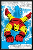 Marvel Comics Retro: The Invincible Iron Man Comic Panel, Swimming Prints