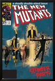 The New Mutants No.4 Cover: Sunspot, Cannonball, Magik, Magma, Wolfsbane and New Mutants Posters by Bill Sienkiewicz