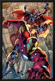 Avengers No.12.1: Iron Man, Ms. Marvel, Protector, and Thor Photo by Bryan Hitch