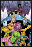 Exiles No.66 Cover: Blink, Sabretooth, Mimic, Morph and Exiles Poster by James Calafiore