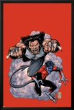 Wolverine No.19 Cover: Wolverine and Nightcrawler Screaming Posters by Darick Robertson