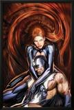 Secret Invasion: Inhumans No.4 Cover: Black Bolt and Medusa Print by Stjepan Sejic