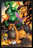 Avengers vs. Pet Avengers No.3: Lockjaw, Lockheed, and Fin Fang Foom Standing Posters by Ig Guara