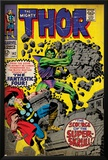 Marvel Comics Retro: The Mighty Thor Comic Book Cover No.142, Scourge of the Super Skrull! (aged) Poster