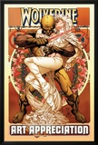 Wolverine Art Appreciation One-Shot Canvas Cover Cover: Wolverine and Emma Frost Print by Joe Quesada