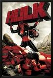 Hulk No.47 Cover: Red She-Hulk and Red Hulk Poster by Carlo Pagulayan
