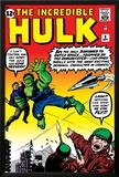 Marvel Comics Retro: The Incredible Hulk Comic Book Cover No.3 Print