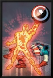 Captain America & The Korvac Saga No.3 Cover: Korvac Posing with Captain America's Shield Posters by Craig Rousseau