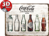 Coca-Cola - Bottle Timeline Tin Sign