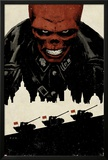 Red Skull No.5 Cover: Portrait of Red Skull with Tanks and City Silhouette Photo by David Aja