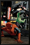 Spider-Man Unlimited No.11 Cover: Hulk and Spider-Man Posters by Michael Lark