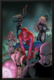 The Amazing Spider-Man No.653 Cover: Spider-Man, Luke Cage, Iron Fist, Ms. Marvel and Others Prints by Stefano Caselli