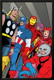X-Statix No.21 Group: Ant-Man, Captain America, Thor, Iron Man, Scarlet Witch, Hawkeye and Avengers Posters by Michael Allred