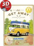 VW Let's Get Away! Tin Sign